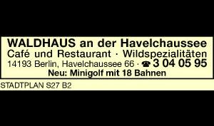 Logo von Waldhaus an der Havelchaussee