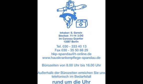 Logo von Hauskrankenpflege Spandau, Inh. S. Gerwin