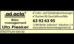 Logo von ad acta, Uta Piesker