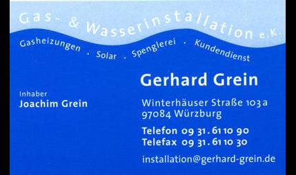 Grein Gerhard Gas- u. Wasserinstallation e.K.
