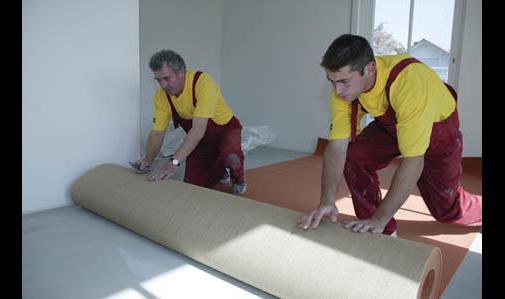 Verlegung von Teppichboden