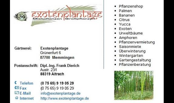 Exotenplantage