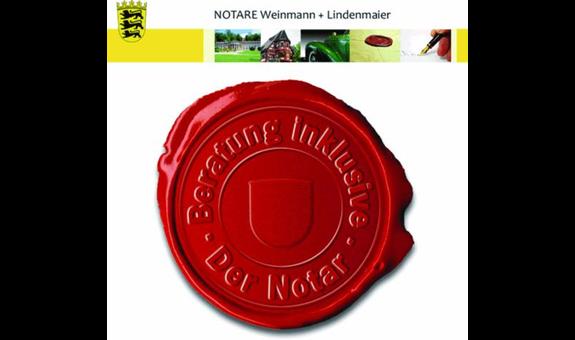 Notar Ernst Weinmann und Notar Mark Lindenmaier