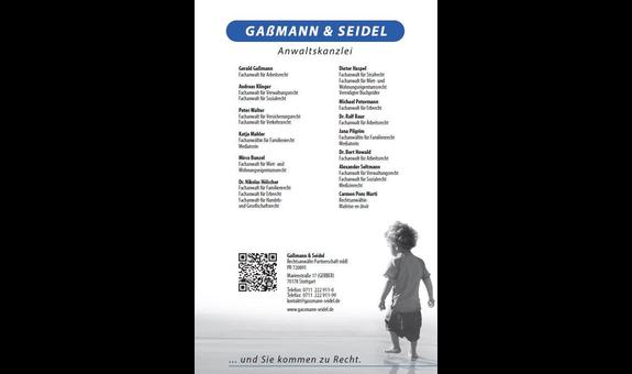 Logo von Anwaltskanzlei Gaßmann und Seidel