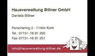 Logo von Hausverwaltung Billner GmbH
