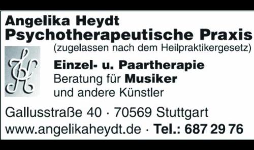 Heydt Angelika - Praxis für Psychotherapie