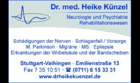 Künzel Heike Dr.med., Fachärztin für Neurologie und Psychiatrie