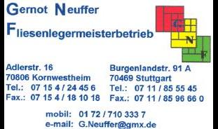 Neuffer Gernot - Fliesenlegermeister