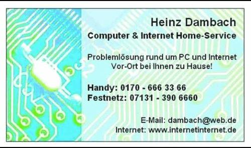 Logo von Computer & Internet Home-Service - Heinz Dambach