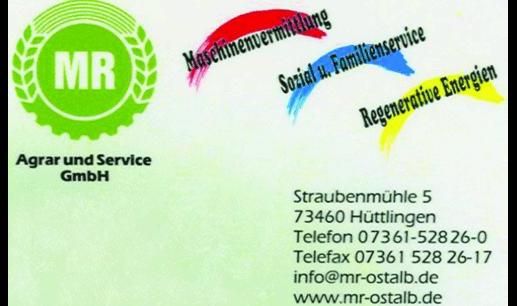 Maschinenring Ostalb, Agrar & Service GmbH