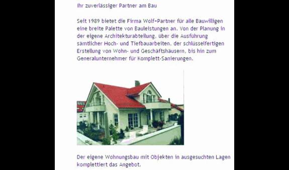 Bauunternehmen Wolf + Partner