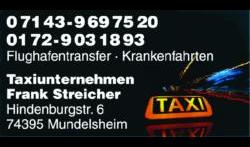 Taxiunternehmen Frank Streicher