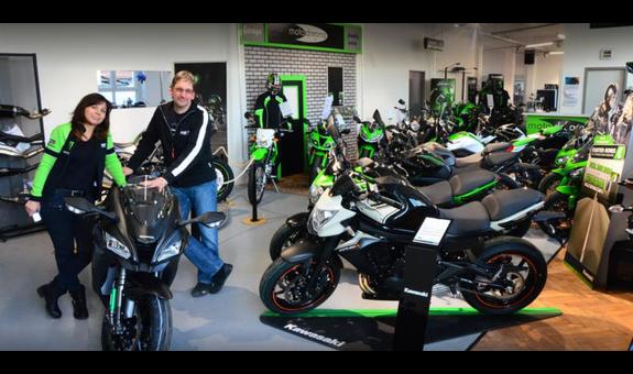 moto dreams GmbH Vertragshändler für Kawasaki, Peugot-Scooters und Kymco