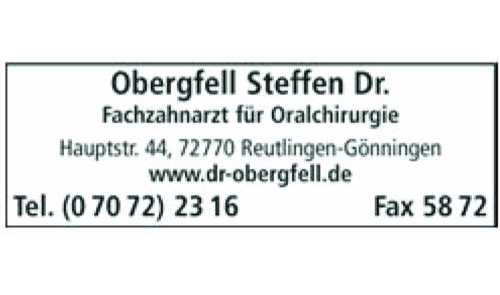 Obergfell Steffen Dr.med.dent., FZA für Oralchirurgie