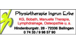 Logo von Erbe Ingrun, Physiotherapie