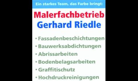 Logo von Riedle Gerhard