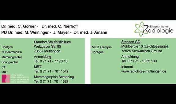 Gemeinschaftspraxis für Diagnostische Radiologie und Nuklearmedizin