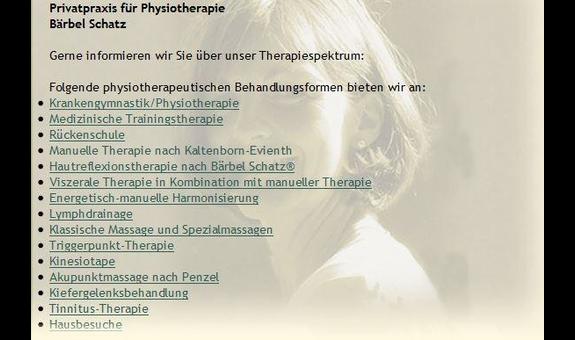 Privatpraxis für Physiotherapie Bärbel Schatz