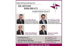Anwaelte Dr. Hinner, Birk-Braun Partnerschaft