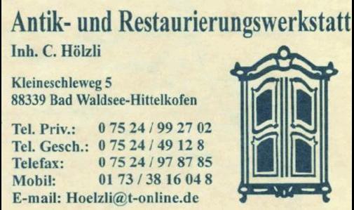 Antik- und Restaurierungswerkstatt C. Hölzli