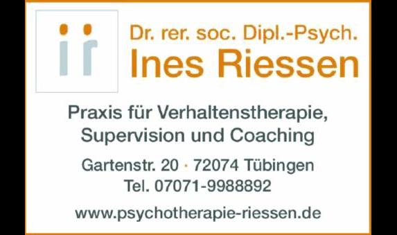 Riessen Ines Dr. rer. soc. Dipl.-Psych.