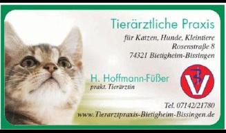 Hoffmann-Füßer H., Tierärztliche Praxis