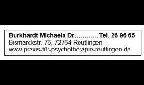 Dr. Michaela Burkhardt Psychotherapeutische Praxis
