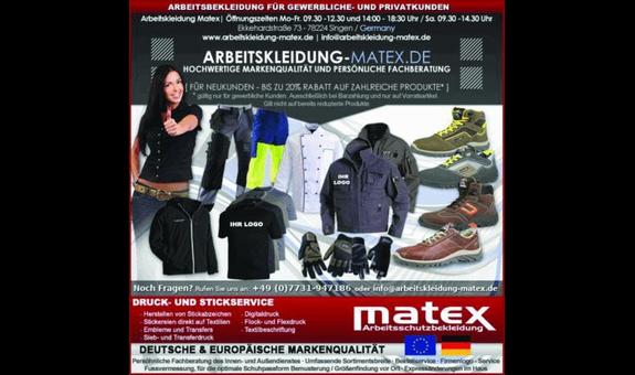 Matex Arbeitsschutzbekleidung