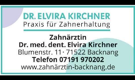 Logo von Kirchner Elvira Dr.med.dent., Zahnärztin, Praxis für Zahnerhaltung