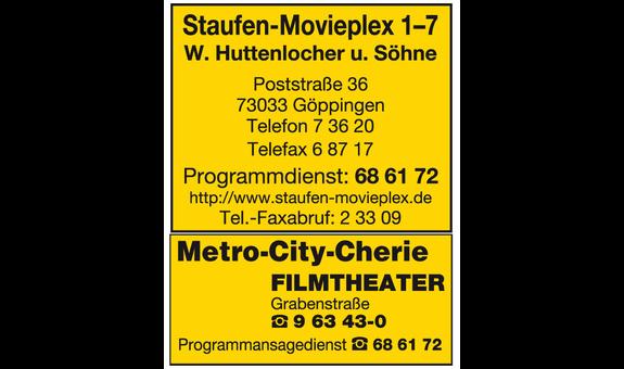 Logo von Staufen-Movieplex, W. Huttenlocher