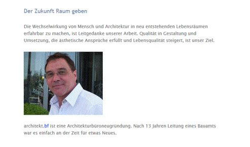 Falkenstein Bernd, Freier Architekt