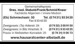 Dr. Frank Diebold, Dr. A. Frank, Dr. H. Schmid