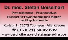 Logo von Dr. med. Stefan Geiselhart, Psychotherapeutische Medizin, tiefenpsych. fund. Psychotherapie