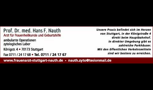 Nauth Hans F. Prof. Dr.med., Arzt für Frauenheilkunde und Geburtshilfe
