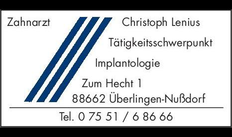 Lenius Christoph, Zahnarzt