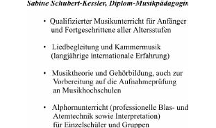 Schubert-Kessler Sabine, Klavier, Alphorn