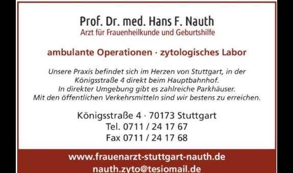 Logo von Nauth Hans F. Prof. Dr.med., Arzt für Frauenheilkunde und Geburtshilfe