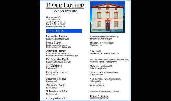 Logo von Epple Luther
