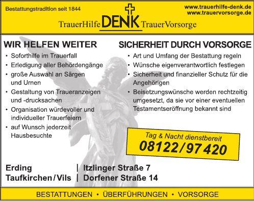 Kundenbild klein 1 Bestattungsinstitut Denk Trauerhilfe GmbH