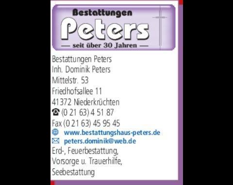 Kundenbild klein 1 Beerdigung Peters