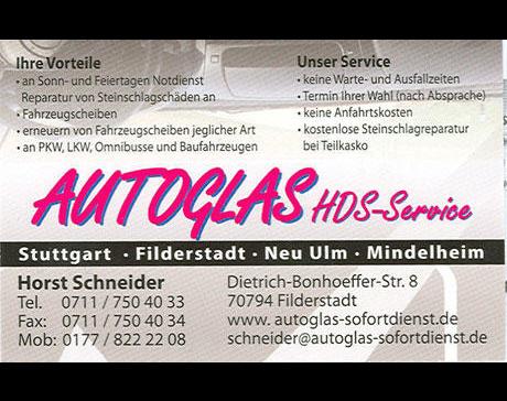 Kundenbild klein 2 Autoglas HDS Service Inh. Schneider Horst