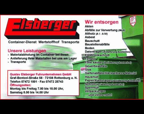 Kundenbild klein 1 Container Abfall-Entsorgung ELSBERGER - Entsorgung, Wertstoffhof Containerdienst