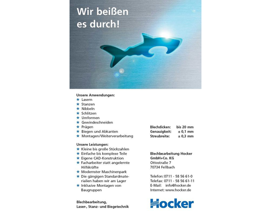 Kundenbild klein 1 Blechbearbeitung Hocker GmbH & Co. KG