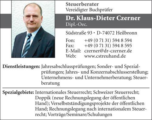 Kundenbild klein 1 Czerner Dr. Klaus-Dieter Steuerberater