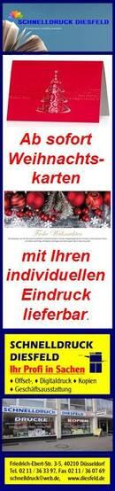Weihnachtskarten mit Ihren individuellen Eindruck lieferbar