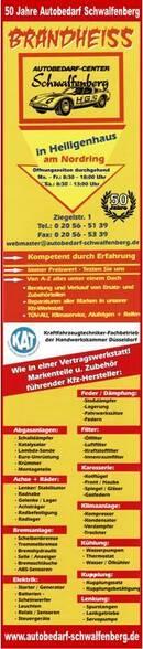 Brandheiss! 50 Jahre Autobedarf Schwalfenberg
