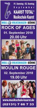 01.-02.09. Samstag und Sonntag ROCK OF AGES u. MOULIN ROUGE