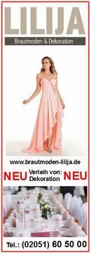 Abendkleider & Verleih von Dekoration für festliche Anlässe