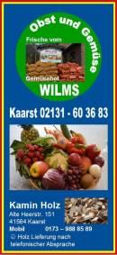 Brennholz / Kaminholz lose o. gesackt und Obst & Gemüse