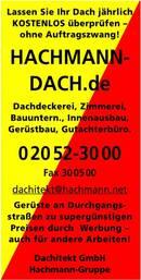 HACHMANN: 500 Jahre Handwerkerfamilie in Langenberg!